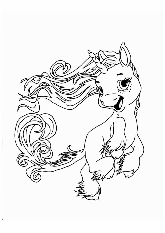 unicorn coloring page 103