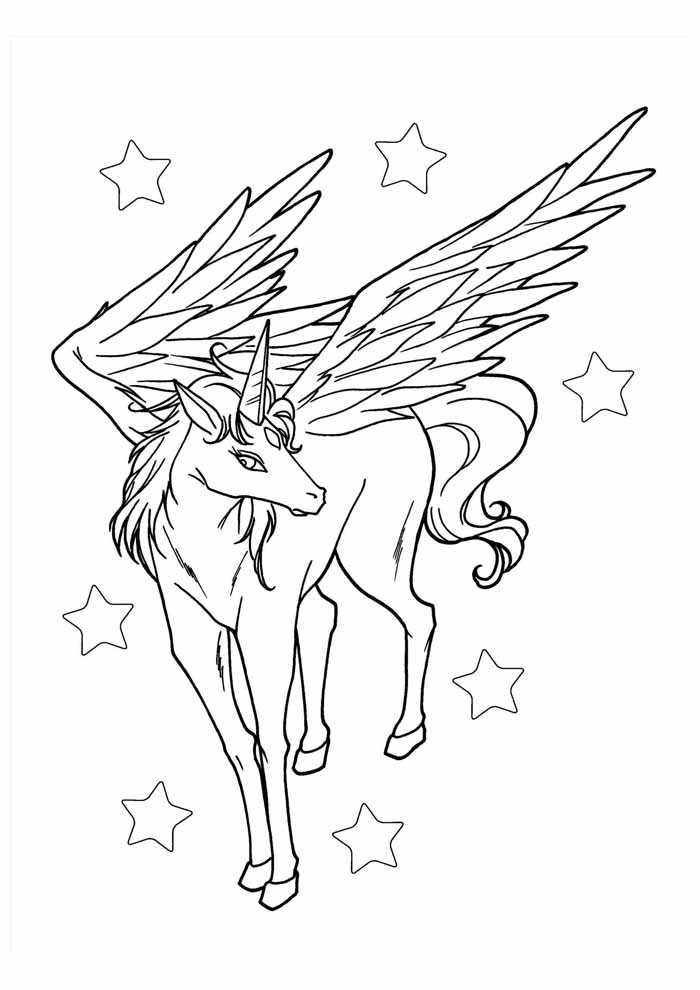 unicorn coloring page 104