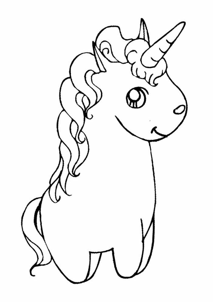 unicorn coloring page 107