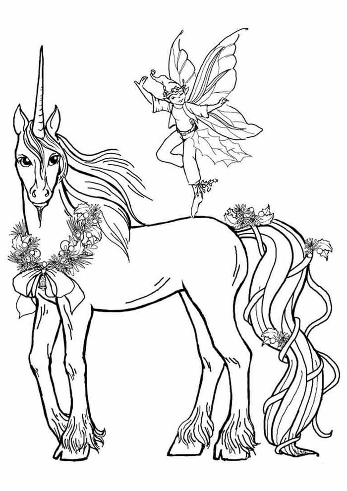unicorn coloring page 108