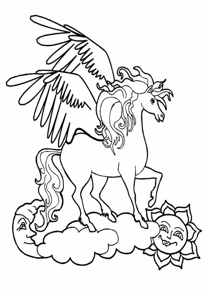 unicorn coloring page 110