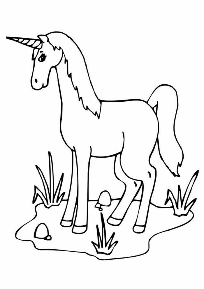 unicorn coloring page 111
