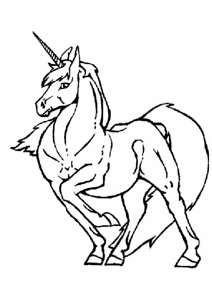unicorn coloring page 112