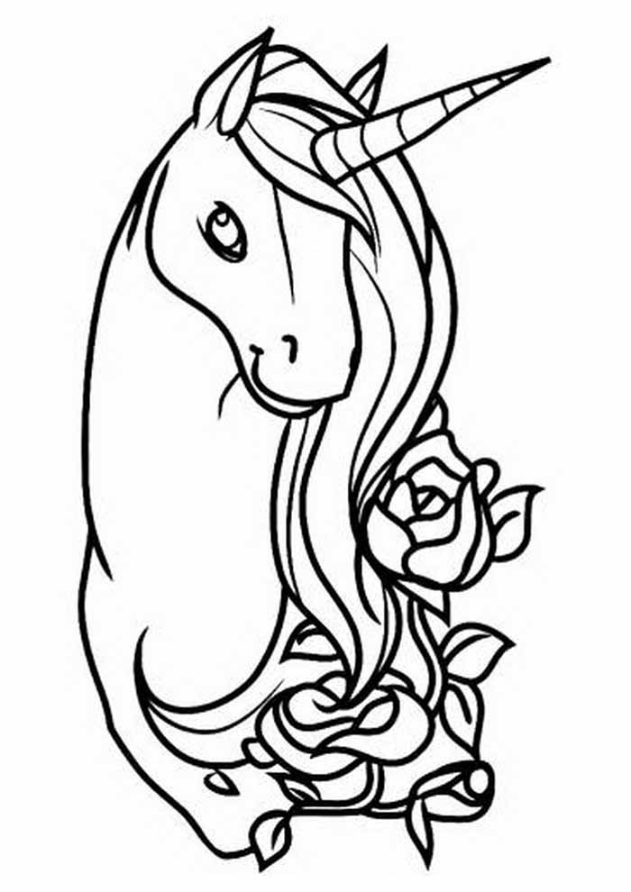 unicorn coloring page 114
