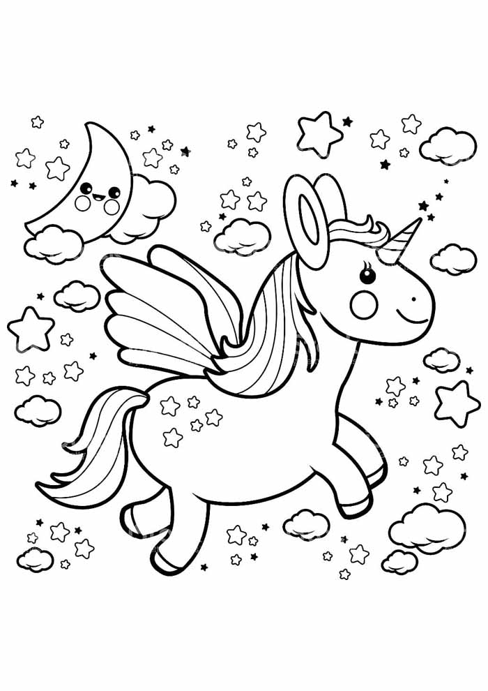unicorn coloring page 115