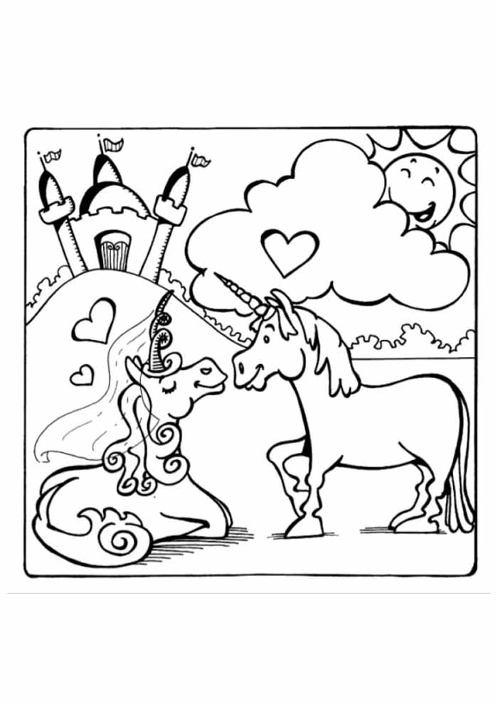 unicorn coloring page 116