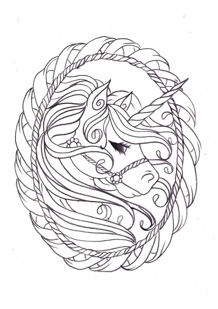 unicorn coloring page 117