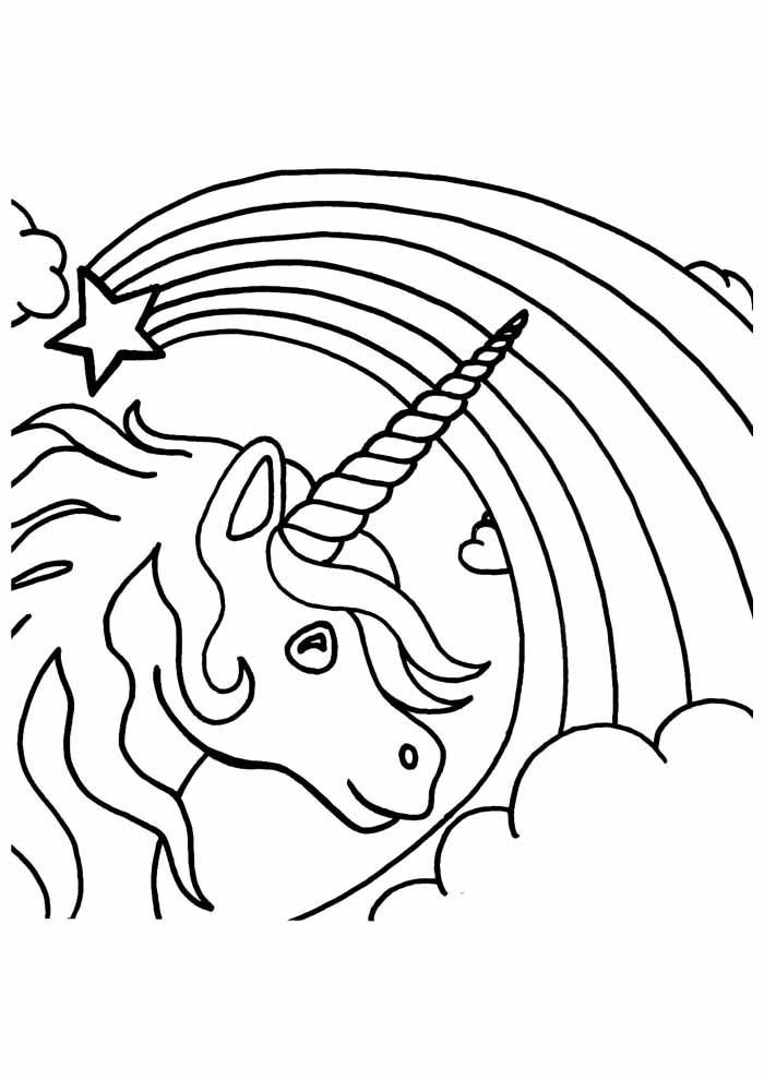 unicorn coloring page 118