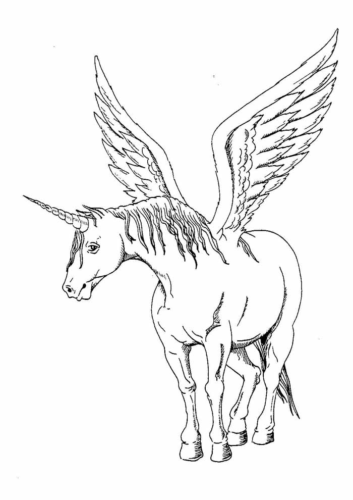 unicorn coloring page 122