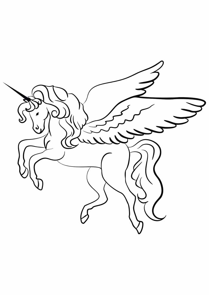 unicorn coloring page 48