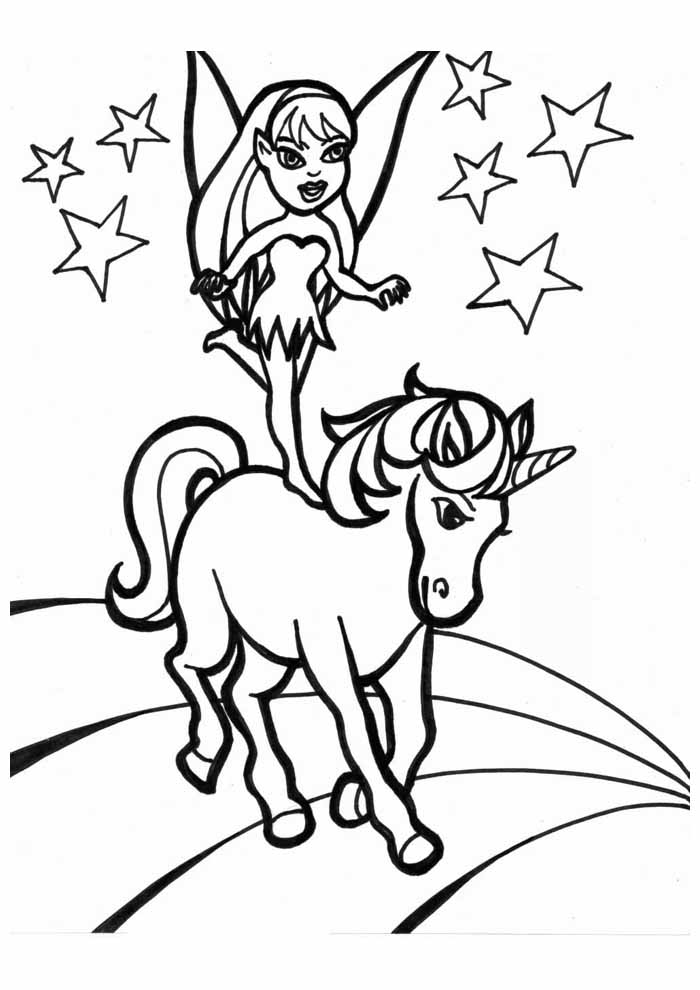 unicorn coloring page 49