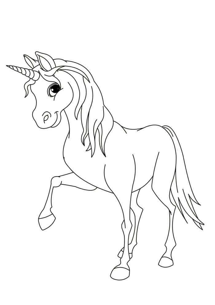 unicorn coloring page 52