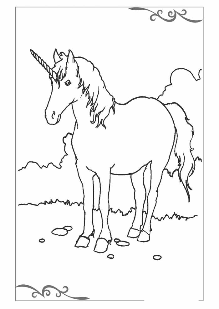unicorn coloring page 53