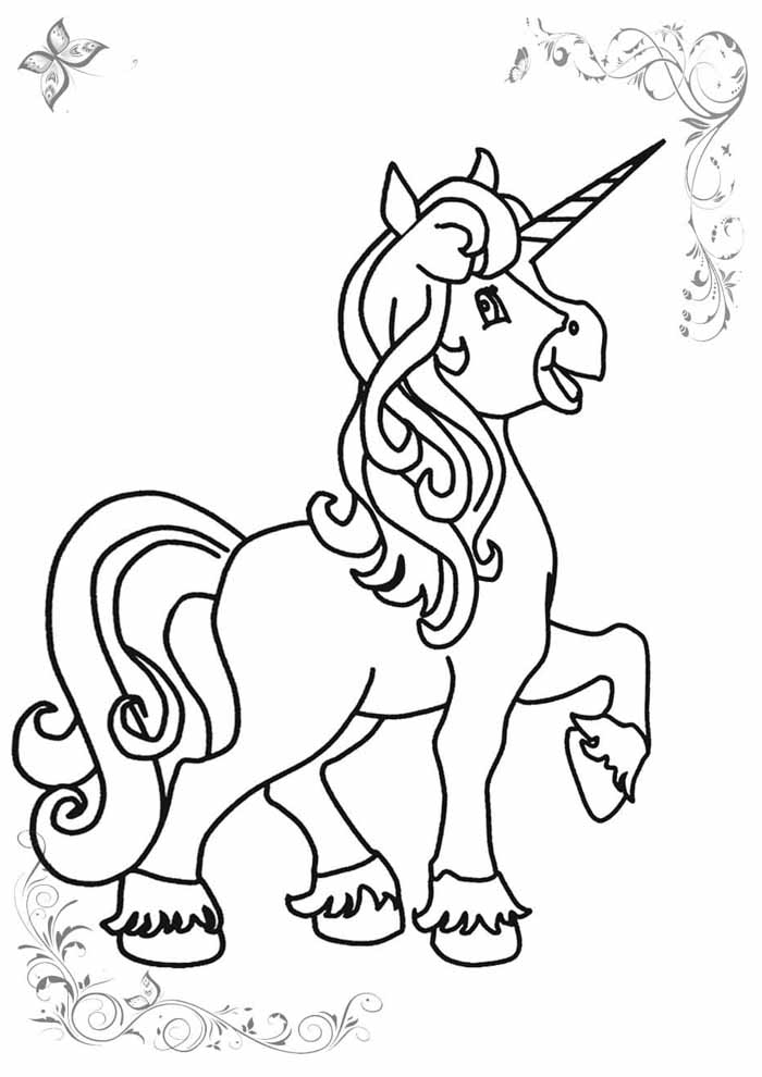 unicorn coloring page 54