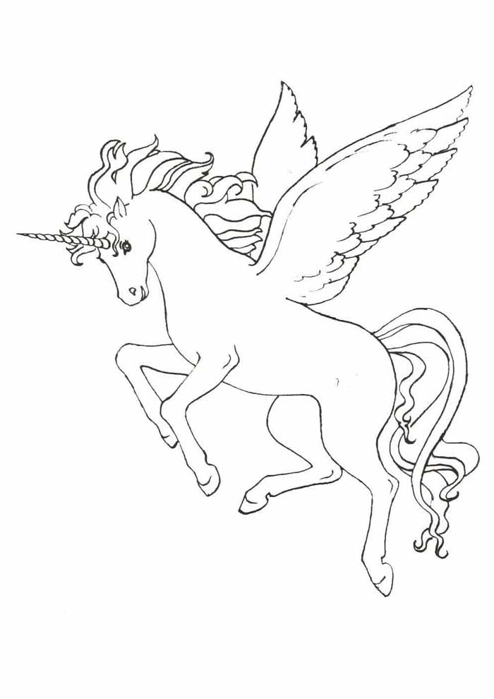 unicorn coloring page 55