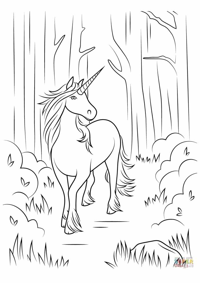 unicorn coloring page 56