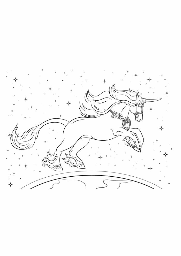 unicorn coloring page 58