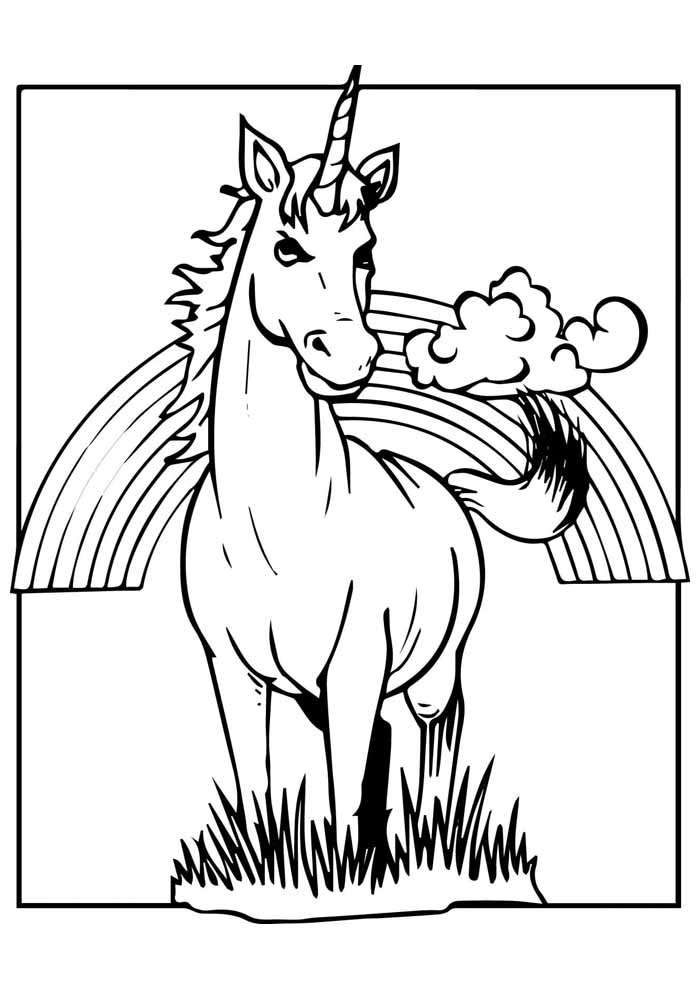 unicorn coloring page 61