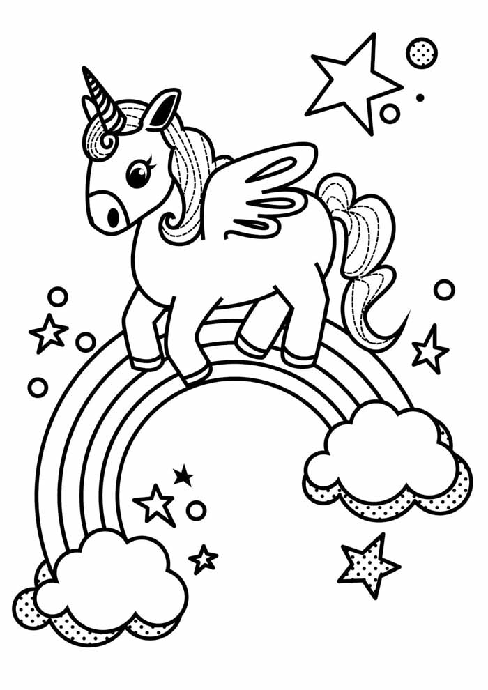 unicorn coloring page 62