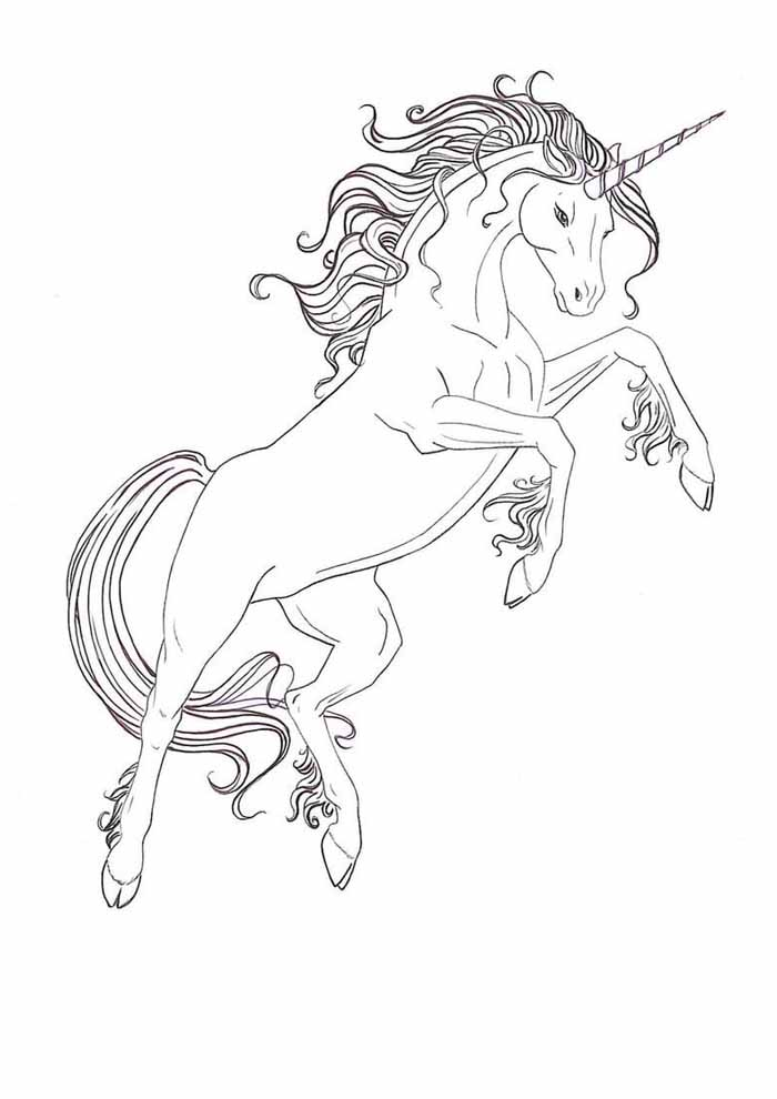 unicorn coloring page 63
