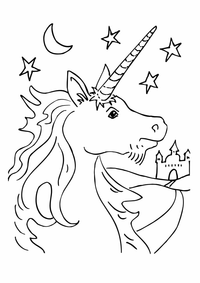 unicorn coloring page 64