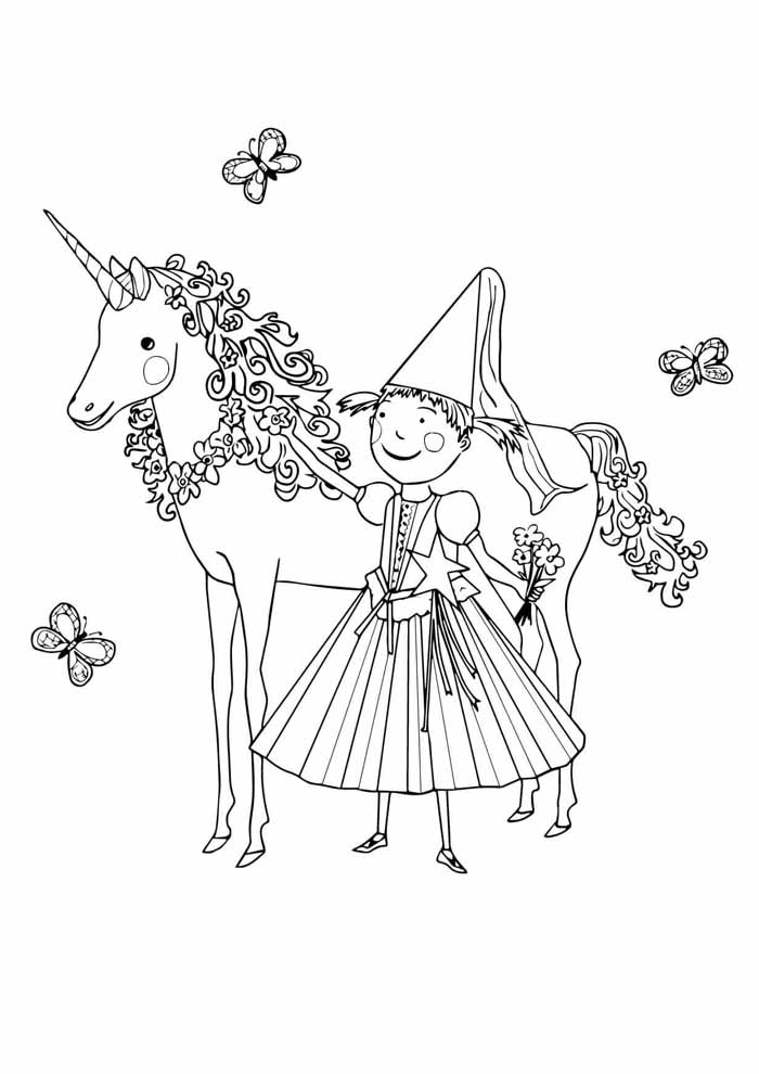 unicorn coloring page 66