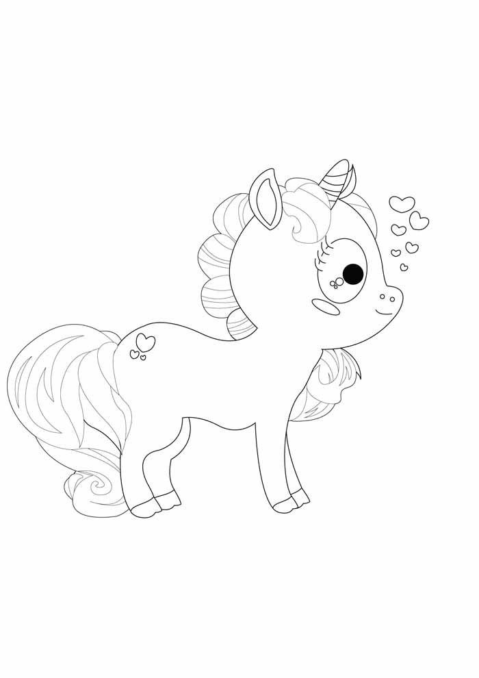 unicorn coloring page 67