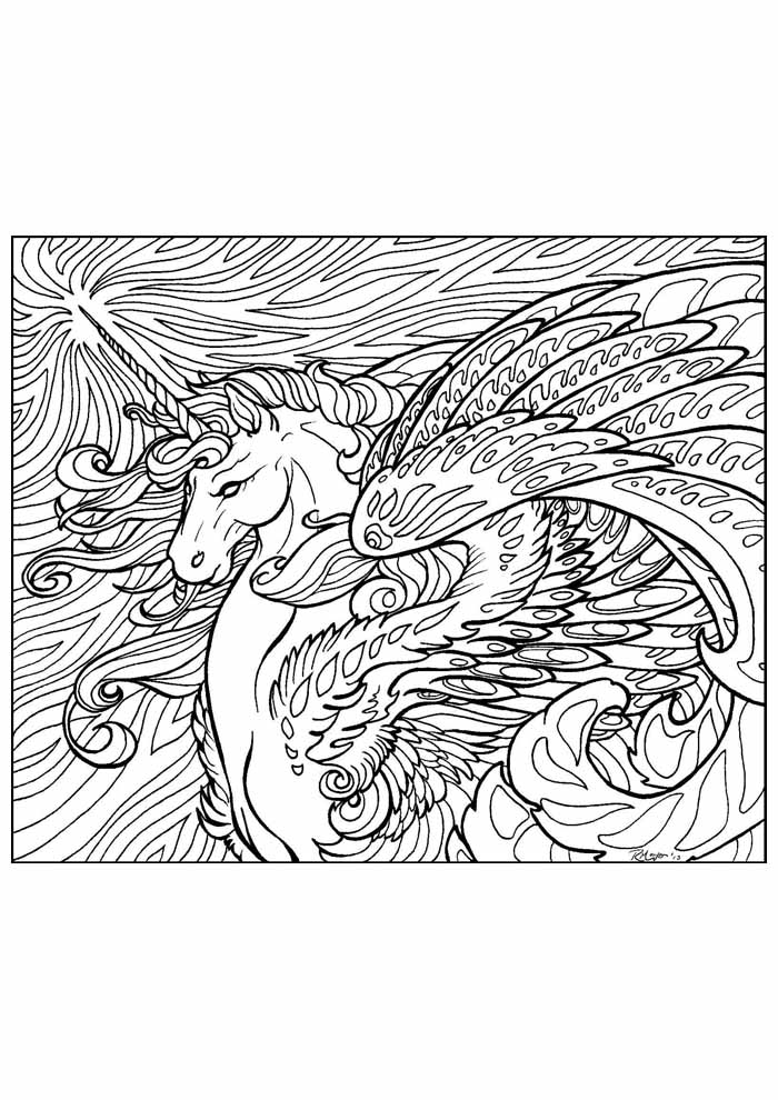 unicorn coloring page 69