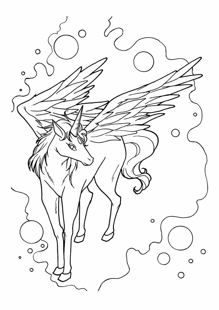unicorn coloring page 71