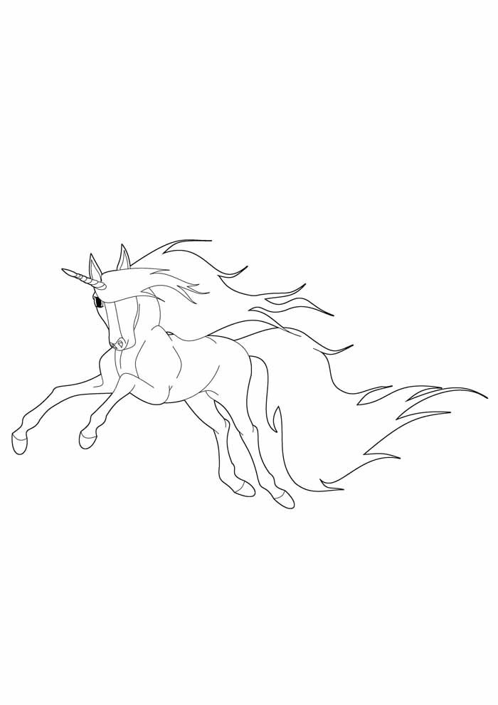 unicorn coloring page 72