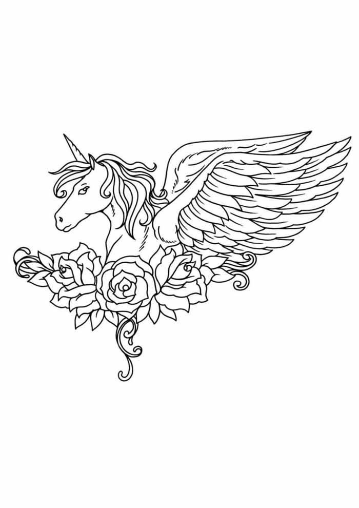 unicorn coloring page 73