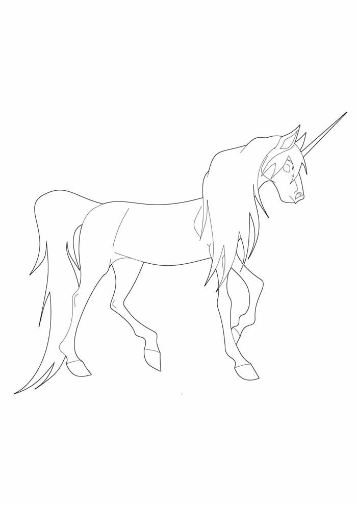unicorn coloring page 75
