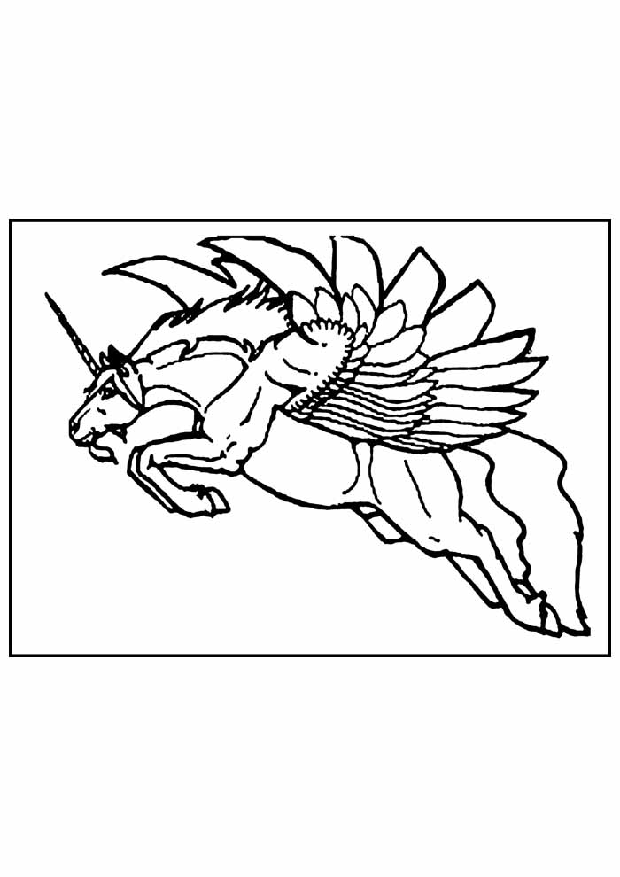 unicorn coloring page 77