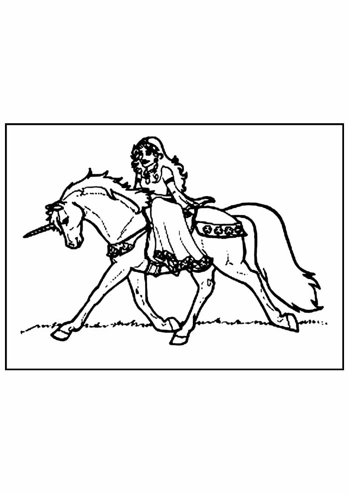 unicorn coloring page 78