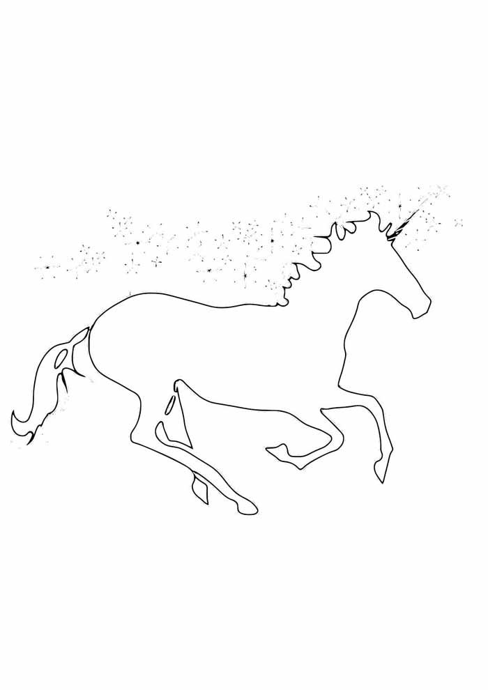 unicorn coloring page 79