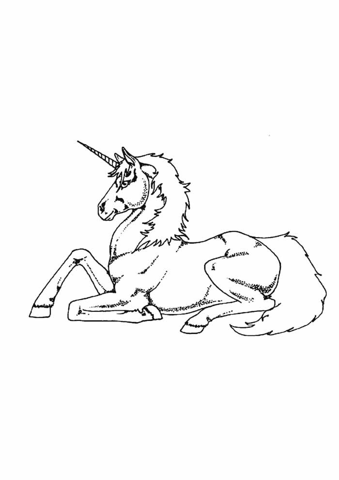 unicorn coloring page 80