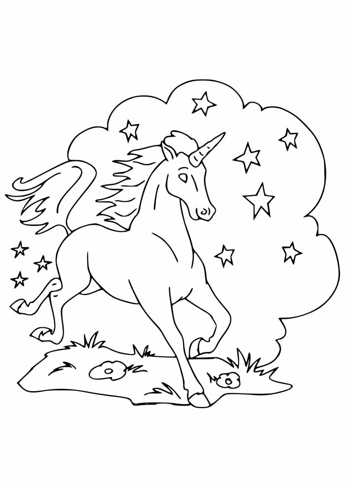 unicorn coloring page 84