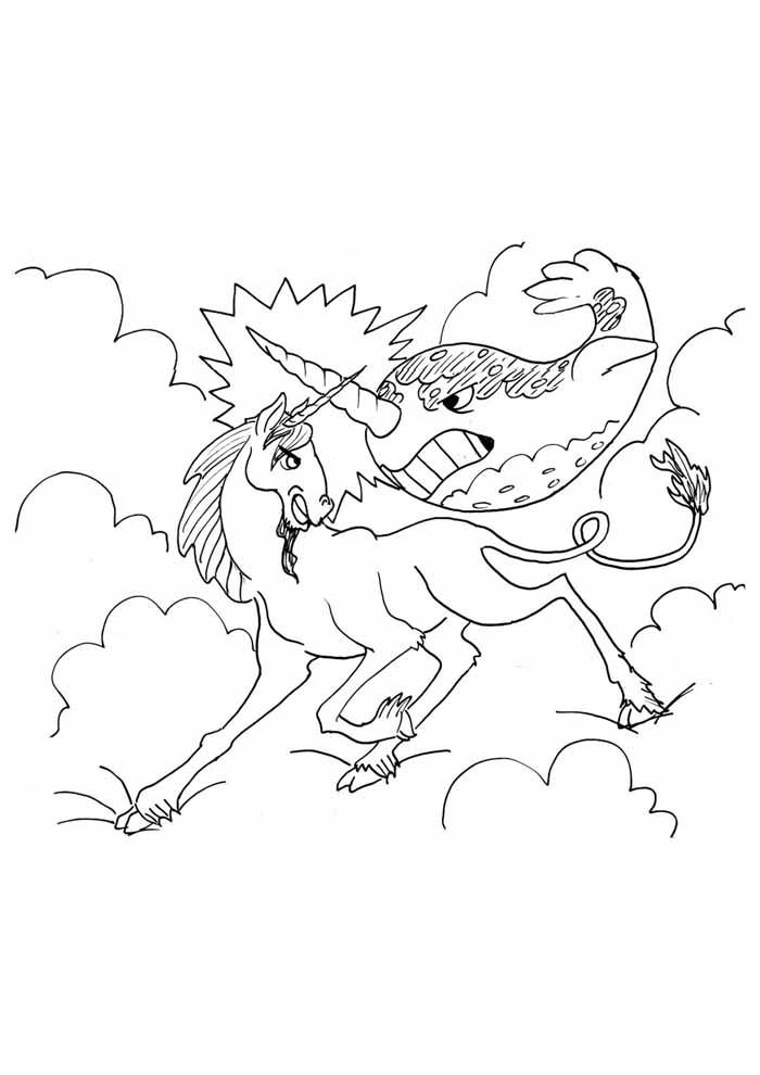 unicorn coloring page 86