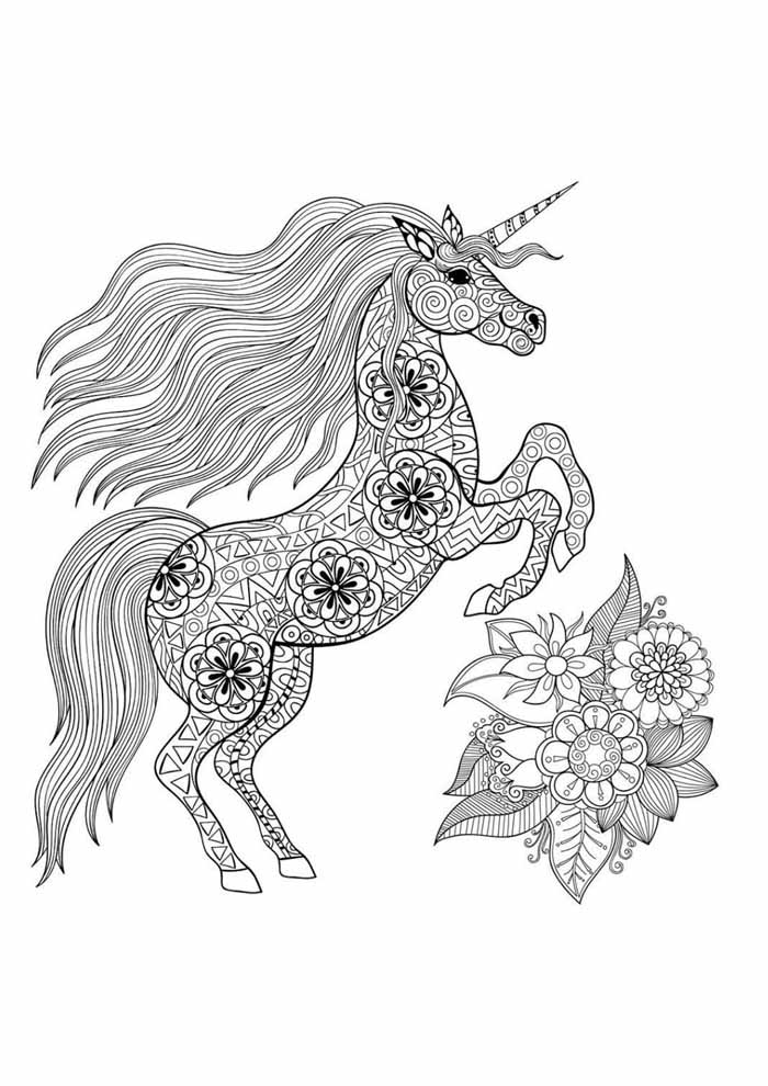 unicorn coloring page 89
