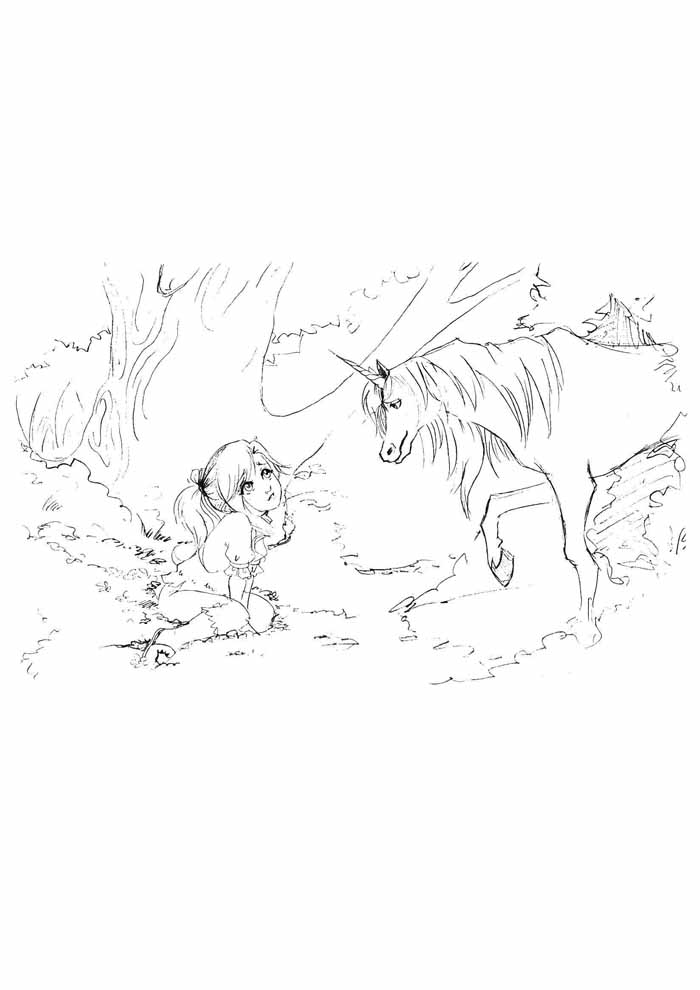unicorn coloring page 90