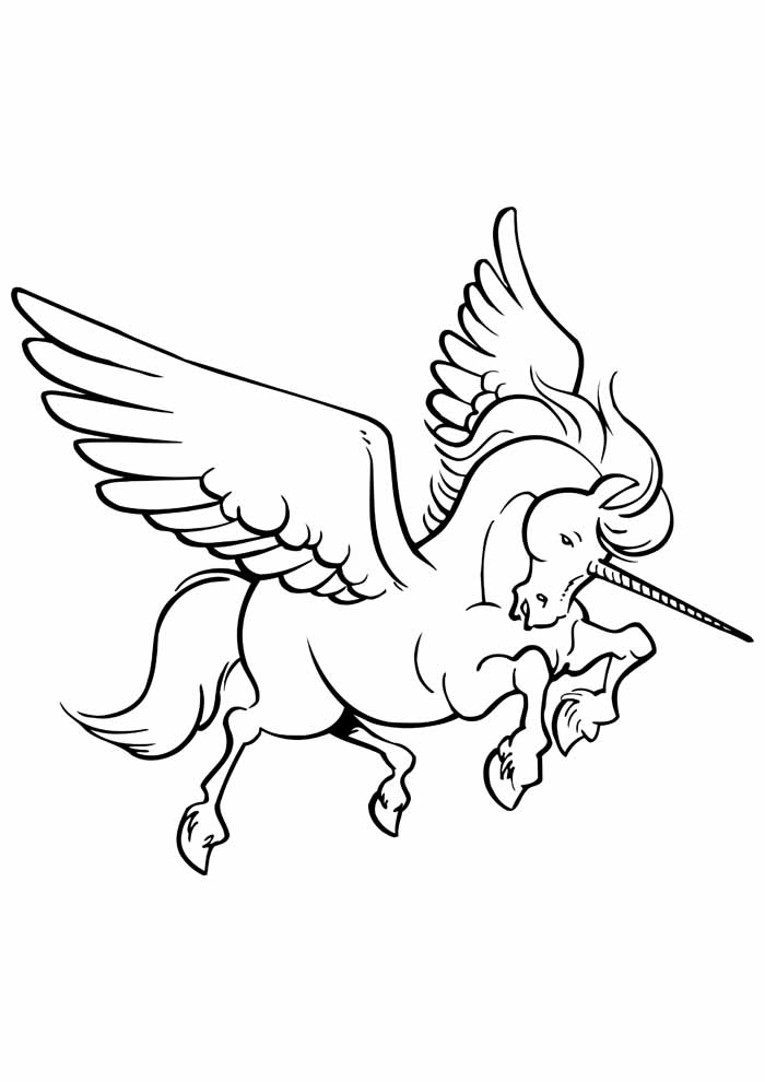 unicorn coloring page 91