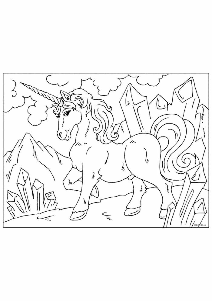 unicorn coloring page 92