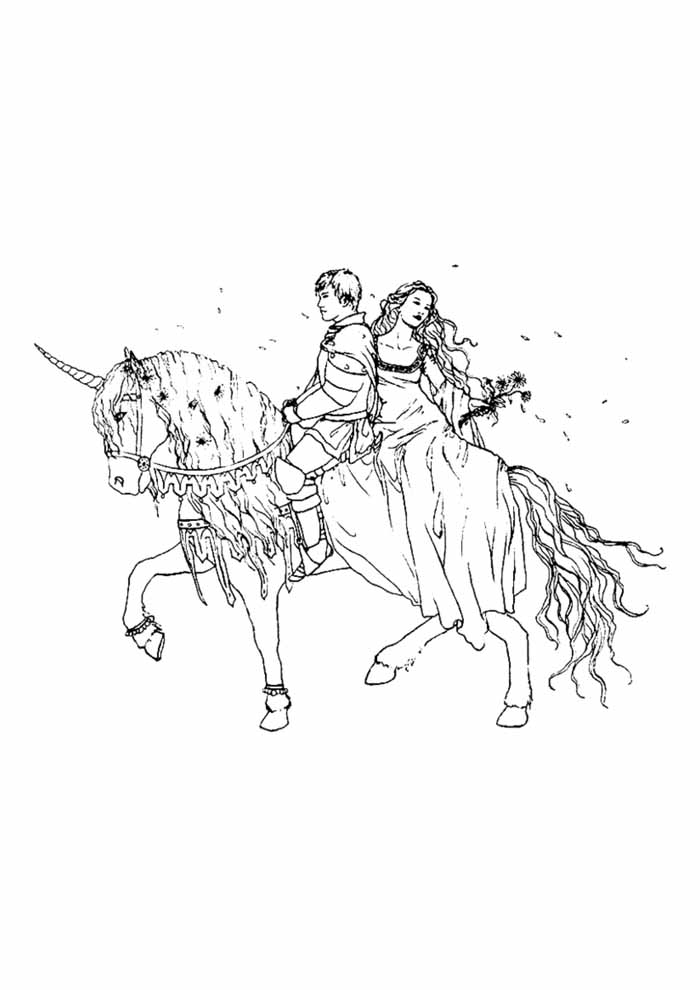 unicorn coloring page 95