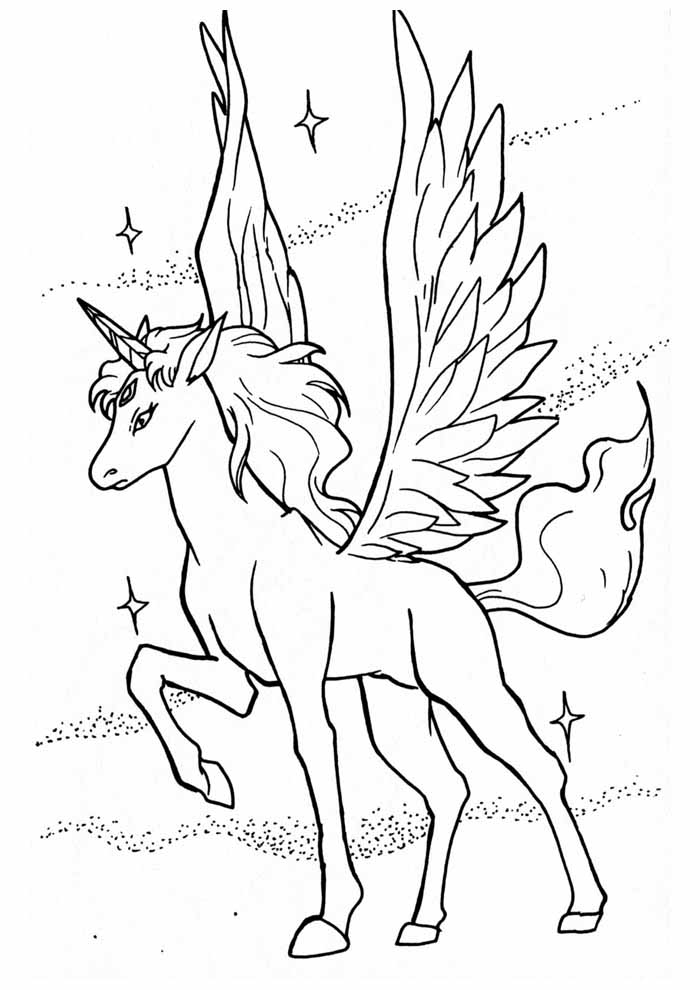unicorn coloring page 96