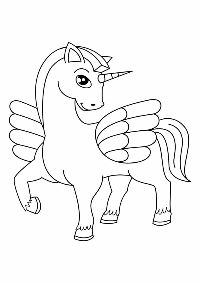 unicorn coloring page 98