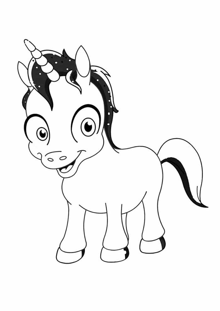 unicorn coloring page baby boy