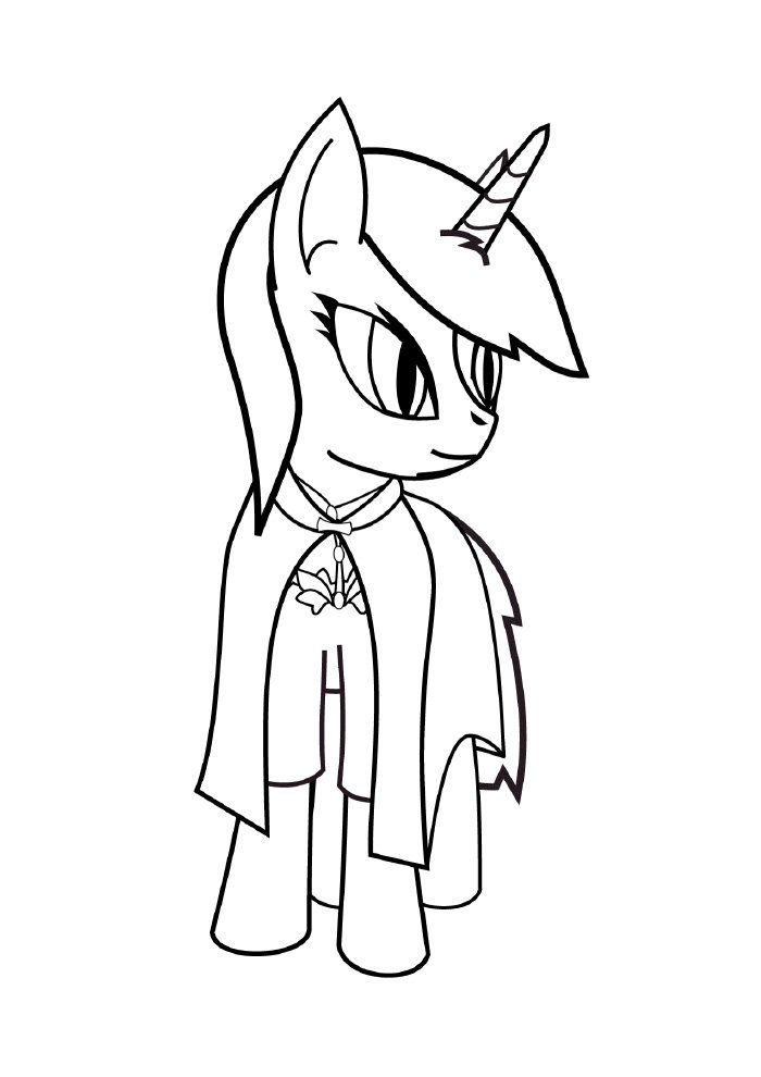 unicorn coloring page cute