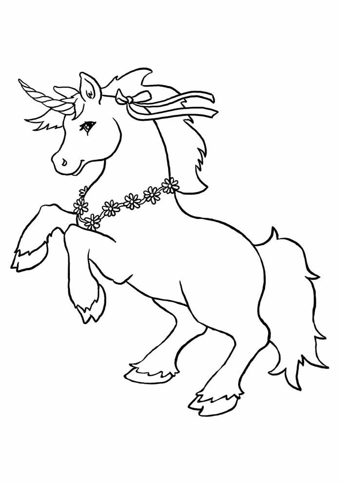 unicorn coloring page elegant