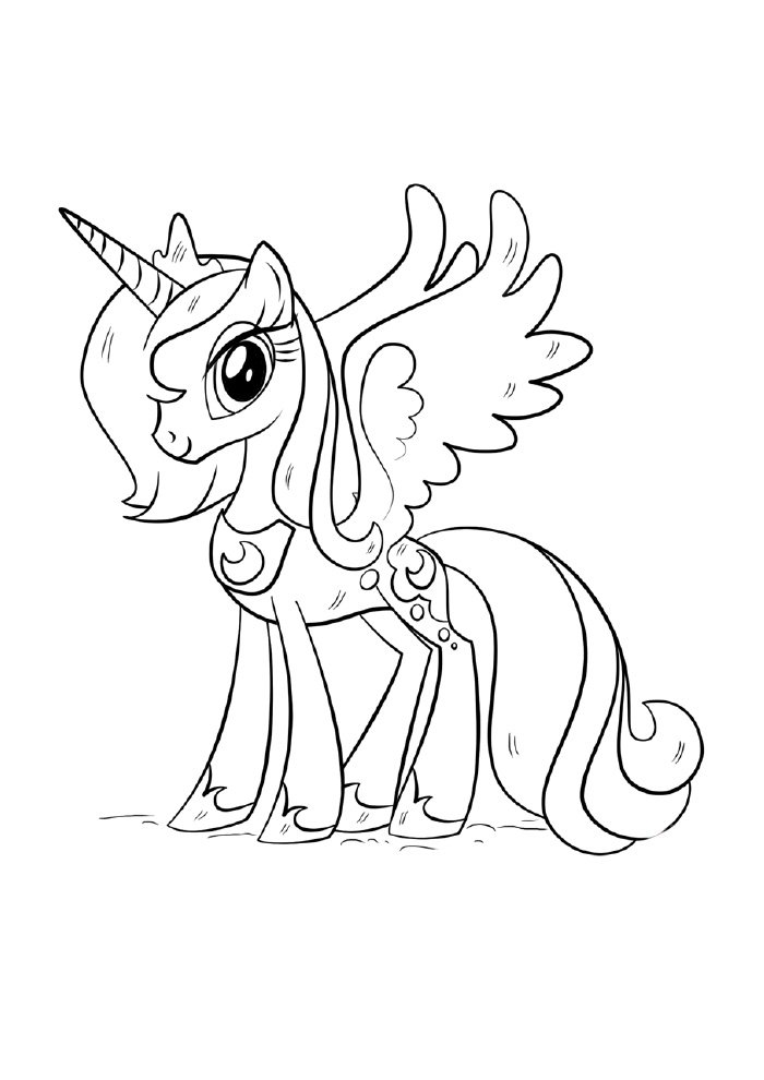 unicorn coloring page little princess