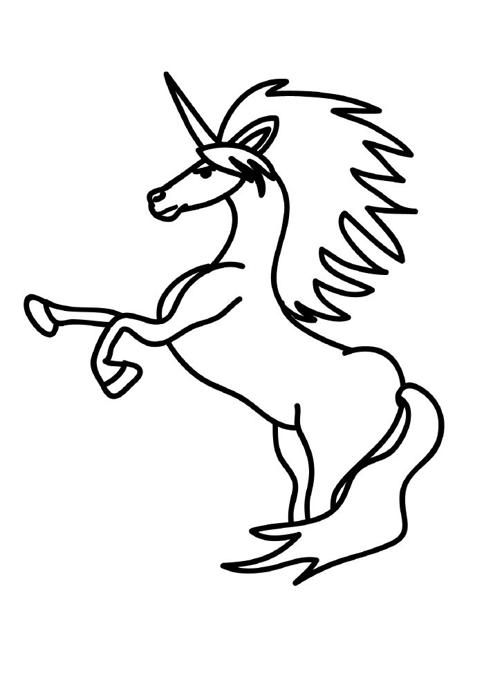 unicorn coloring page male